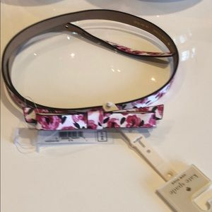 Kate Spade bow belt size L NWT